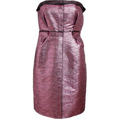 LANVIN Metallic Lurex Bustier Dress and other apparel, accessories and trends. Browse and shop related looks.