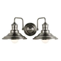 DOWNSTAIRS FULL BATH (x2) allen + roth 2-Light Hainsbrook Antique Pewter Standard Bathroom Vanity Light