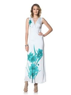 Paul & Joe Women's Colibal Empire Waist Maxi Dress (Green)