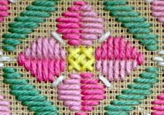 The Bargello or Long Stitch is easy and quick to work. Make stunning needlepoint designs by adjusting the size and color of the stitch. Here's how.