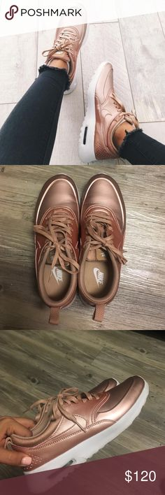 Nike Airmax Thea Rose Gold Gorgeous rose gold nikes. Worn a couple times. No trades. Nike Shoes Athletic Shoes