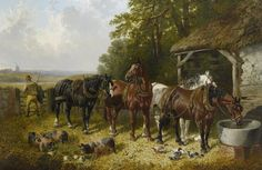The End of the Long Day by John Frederick Herring | Art Posters