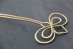 Hair fork hair pin hair stick calligraphy by Keepandcherish