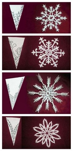 DIY paper medallions miniaturized & DIY paper snowflakes here to make your . - DIY paper medallions miniaturized & DIY paper snowflakes here to beautify your holidays [detailed i - Winter Christmas, All Things Christmas, Christmas Holidays, Christmas Decorations, Christmas Ornaments, Cheap Christmas, Christmas Paper, Holiday Decorating, Winter Wonderland Decorations