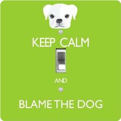 "Rikki KnightTM Keep Calm and Blame the Dog - Lime Green Color - Single Toggle Light Switch Cover by Rikki Knight. $13.99. 5""x 5""x 0.18"". Washable. For use on Walls (screws not included). Glossy Finish. Masonite Hardboard Material. The Keep Calm and Blame the Dog - Lime Green Color single toggle light switch cover is made of commercial vibrant quality masonite Hardboard that is cut into 5"" Square with 1'8"" thick material. The Beautiful Art Photo Reproduction is printed d..."