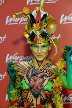1st Place Body Paint at Warpaintopia 2017 London Body Art and Props by Jenny Marquis Brushstrokes Bodyart Model Gracie Bodypaint Model