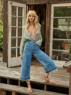 Dawn to Dusk Cropped Wide Leg Jeans
