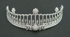 The Baden Tiara Baden Tiara, Germany (made by Cartier; diamonds). Once belonged to Princess Hilda of Nassau, Grand Duchess of Baden.