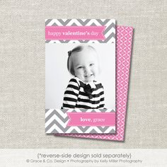 Valentines Day Mini Photo Card Digital or Printed  by graceandco, $15.00