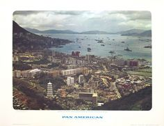 Picture This Gallery, Hong Kong | Vintage travel poster from 1964 promoting travel to Hong Kong via Pan-Am.