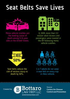 Seat Belts Save Lives #infographic