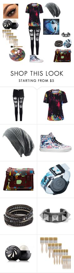 """""""ART SCHOOL"""" by gemma-todd-1 on Polyvore featuring Glamorous, Vans, Dr. Martens, SmileSolar, Chan Luu, Valentino and Eos"""