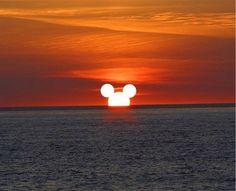 Mickey sunset
