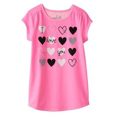 """Jumping Beans® """"I Love You"""" Tee - Girls 4-7"""