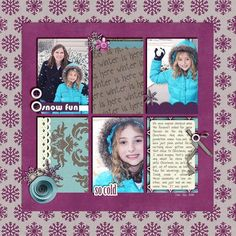 snow scrapbooking pages ideas | scrapbook pages