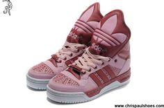 Wholesale Discount Girl Adidas X Jeremy Scott Big Tongue Shoes Pink
