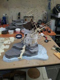 Tutorial Terrain Making Diorama Scenery #scenery #terrain #diorama #tutorial #making #wargaming #hobby #miniatures #models #windmill #hill #hills