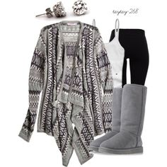 """grey"" by taytay-268 on Polyvore"