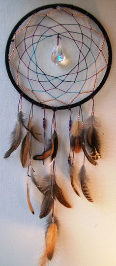 Cosmic Galaxy Native Dream Catcher Mystic Dream Art :)