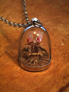 nature shrine with photo diorama  necklace by Lisa Wood
