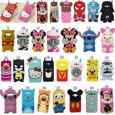 Soft Silicone Cute New 3d Cartoons Shockproof Back Cover Case For Samsung Phones from $3.89