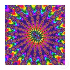 Customizable Rainbow Fractal Burst Stretched Canvas on sale for $127.00 at www.zazzle.com/wonderart* or click on the picture to take you directly to the product.
