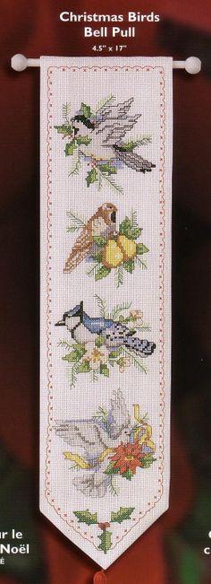MÁS PUNTO DE CRUZ: Pájaros de Navidad