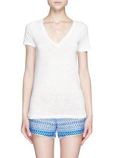 J.CREW - Vintage cotton V-neck tee | White T-Shirts Tops | Womenswear | Lane Crawford