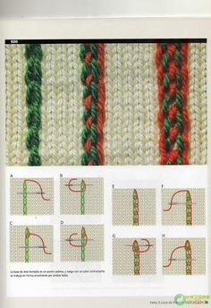 Guia de Puntos Bordados en Tejido Crochet - Patrones Crochet