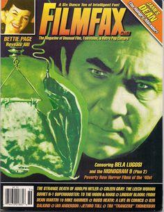 FilmFax # 136 Bela Lugosi Bettie Page JAMES DEAN Hitler Russ Heath Jethro Tull Soviet SF Mike Hammer Horror Noir PinUp Monsters