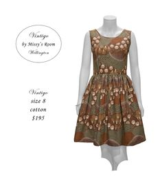 New dress, made by us in Wellington, from medium weight vintage cotton. Sorry, this Dress has SOLD