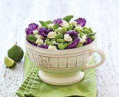 Edamame Salad with Feta and Dried Cherries