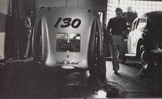 "The famed and cursed 1955 Porsche 550 Spyder ""Little Bastard"""