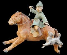 sandra courlivant - Google zoeken Horse Sculpture, Sculpture Clay, Old Pottery, Pottery Art, Genghis Khan, Ceramic Animals, All The Pretty Horses, Ancient China, Mongolia