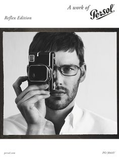 Enter the Persol Reflex Photo contest and win a trip for two to Venice and a brand new Leica M-E to capture every moment. Persol, Camera Art, La Face, Portraits, Mens Fashion Blog, Review Fashion, Vintage Cameras, Win A Trip, Mens Glasses