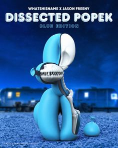 Mighty JAxx presents: Dissected POPek (Blue Edition) by Whatshisname x Jason Freeny! #Anatomy #Dog #JasonFreeny #LimitedEdition #MightyJaxx