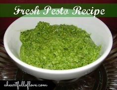 Quick and Simple Pesto #recipe that is a great way to use up an excess of basil from your garden.  It freezes well too!