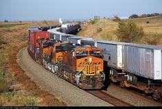 RailPictures.Net Photo: BNSF 6888 BNSF Railway GE ES44C4 at Tangier, Oklahoma by Roger Daniels Bnsf Railway, Railroad Pictures, Burlington Northern, Rolling Stock, Tangier, Diesel Locomotive, Train Tracks, Santa Fe, Oklahoma