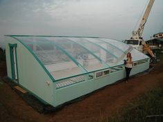 A family-sized aquaponic greenhouse will grow all the vegetables your large…
