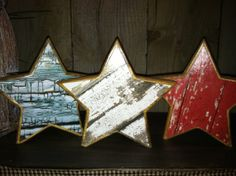 Rustic Wooden Star wood grain Barn wood star by picketfencecrafts