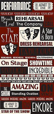 Reminisce PERFORMANCE QUOTES Cardstock Stickers scrapbooking OVATION REHEARSAL