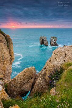 Sunset, Cantabria, Spain...