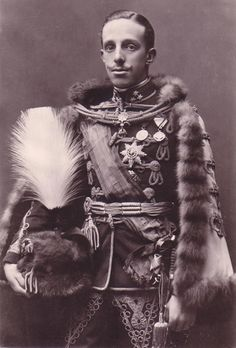 King Alfonso XIII of Spain in Austrian hussar uniform