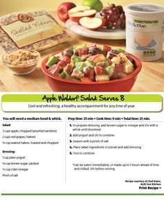Apples salad made with yogurt... must try... yougurt would be much better than the mayonasie in my current recipe.