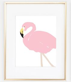 Flamingo Poster Art | Pink Flamingo Artwork | Vintage Flamingo