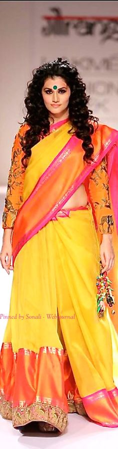 Tapsee for Gaurang Shah at Lakme Fashion Week Winter 2014