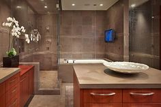 Luxurious and sophisticated bathroom design. Discovered on www.Porch.com