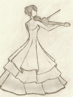 Best ideas for dancing drawings pencil Art Drawings Sketches Simple, Girl Drawing Sketches, Pencil Sketch Drawing, Girly Drawings, Pencil Art Drawings, Pencil Sketches Easy, Pencil Drawing Inspiration, Dancing Drawings, Fashion Design Sketchbook
