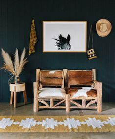 Pampa horses & rugs at Kimberly Amos home in Byron Bay. Photographed by Victoria Aguirre