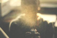 light, dust, type + image, film